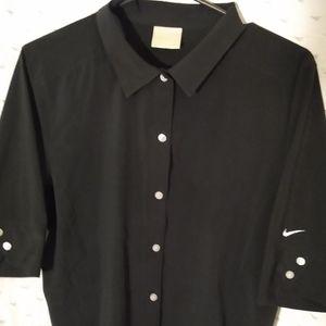 Black Nike golf shirt